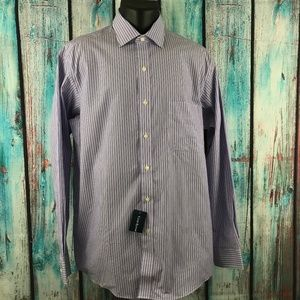 Club Room Striped Dress Shirt Regular Fit 16 34/35